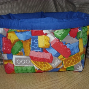 LEGO mintás pelenka, pipere, zokni, játék, apróság tároló , Játéktároló, Tárolás & Rendszerezés, Otthon & Lakás, Varrás, Patchwork, foltvarrás, Praktikus tárolót készítettem gyerekszobába - több méretben\n\nPelenka, baba pipere, zokni, harisnya, ..., Meska