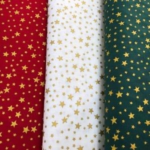 Méterben is - Karácsonyi apró mintás német design textil 70 x 30 cm - méterre is - Meska.hu