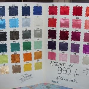 56 színben dekoratív szatén 150 cm 990.-Ft, Textil, Selyem, Varrás, Textil, Mindenmás, Alkalomra is jól felhasználható\n\nElegáns, kellemes\n\nfinoman fényes\n\ndekoratív szaténok\n\n56 színben\n\n..., Meska