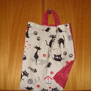 Füles kis táska zsebbel - nowaste -   100% pamut textil - ovis jellel és névvel is, Táska & Tok, Kézitáska & válltáska, Varrás, Mindenmás, Meska