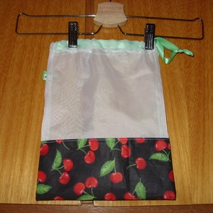 Fekete cserkós sok más gyümölcsös zsák., újra használható, mosható Zöldülj Te is, Táska & Tok, Zöldség/Gyümölcs zsák, Bevásárlás & Shopper táska, Varrás, Meska