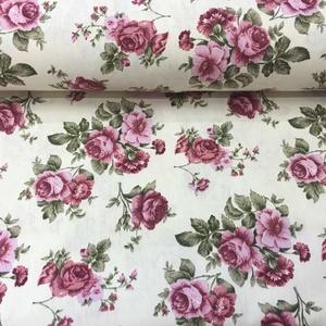 Bútorvászon rózsás design textil 140 cm - kevert szálas, Textil, Pamut, Mindenmás, Varrás, Textil, Jó minőségű termék - \n\nDesign Textil\n\nkevert szálas (pamut és PES)\n\nKönnyen kezelhető\n\nJól kombinálh..., Meska