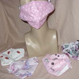 5 db-os 3D minőségi szájmaszk, arcmaszk - 3 méretben design textilekből - maszk, arcmaszk - női - Meska.hu