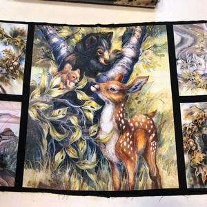 VADÁLLATOS 5 ÉS 8 blokkos panelek, USA design textil - textil - vászon - Meska.hu