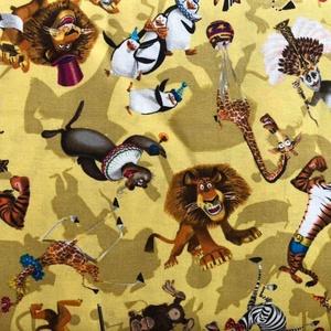 MADAGASZKÁR, SUPERMAN és dinó mintás USA design textilek méterben, Textil, Vászon, Mindenmás, Varrás, Textil, Jó minőségű termék -\n\nTextil - akár - patchwork - anyag\n\nKÜLÖNLEGES, MINTÁS\n\n100% pamut, jogvédett U..., Meska
