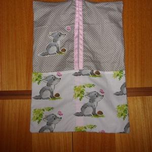 2 db-os fiús vállfás ovis ruha- és tornazsák szett   100% design pamut - ökotex kombó - ovi- és sulikezdés - Meska.hu