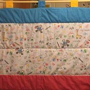 Gyerekrajz mintás - vidám kerettel falikép falvédő 100% design pamut 185 x 77 cm, Otthon & Lakás, Lakástextil, Falvédő, Varrás, Meska