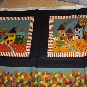 Őszi hangulat 5 blokkos nagy panel  - USA design textil  - textil - pamut - Meska.hu