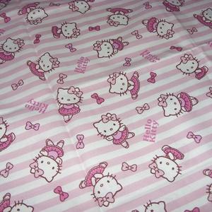 Helló Kitty  - csajos, gyerekmintás méteráru  - USA design textil  - 140 cm, Textil, Pamut, Mindenmás, Varrás, Textil,  USA design - Egyedi tervezésű - jogdíjas textil\n\nTextil - akár - patchwork - anyag\n\n100% pamut\n\n140..., Meska