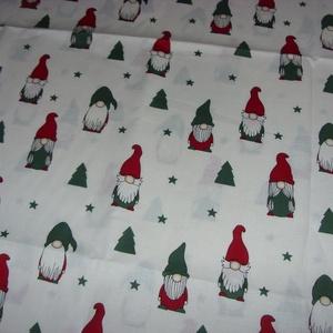 Karácsonyi manó mintás prémium textil - német design textil  - 140 cm, Textil, Pamut, Mindenmás, Varrás, Textil, német design - Egyedi tervezésű - jogdíjas textil\n\nTextil - akár - patchwork - anyag\n\n100% pamut ext..., Meska