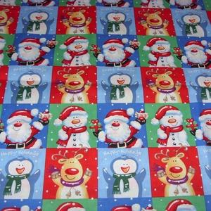 Karácsonyi manó és patchwork mintás prémium textil - német  extra design textil  - 140 cm, Textil, Pamut, Mindenmás, Varrás, Textil, német design - Egyedi tervezésű - jogdíjas textil\n\nTextil - akár - patchwork - anyag\n\n100% pamut ext..., Meska