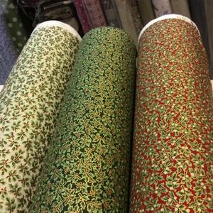 Karácsonyi arany nyomású prémium textil - német  extra design - 140 cm, Textil, Pamut, Mindenmás, Varrás, Textil, Német design - Egyedi tervezésű - jogdíjas textil\n\nTextil - akár - patchwork - anyag\n\n100% pamut ext..., Meska