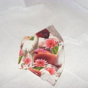 Egyedi darab - Láma mintás  maszk - arcmaszk - szájmaszk  Limitált darabszám - maszk, arcmaszk - Meska.hu