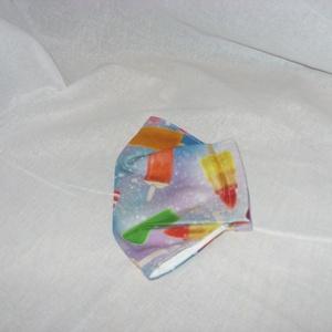 Egyedi darab - jégkrém mintás  maszk - arcmaszk - szájmaszk  Limitált darabszám - maszk, arcmaszk - Meska.hu