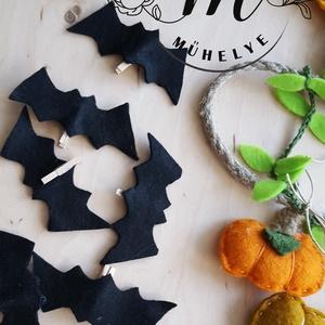 Átalakítható tökös girland, füzér, denevér,halloween dekoróció, - otthon & lakás - dekoráció - falra akasztható dekor - Meska.hu