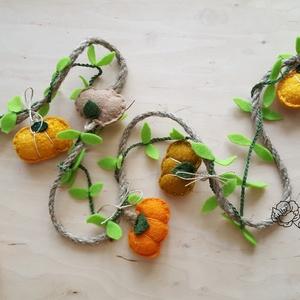 Átalakítható tökös girland, füzér, denevér,halloween dekoróció, - Meska.hu
