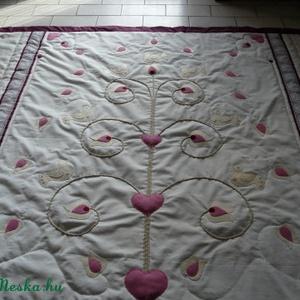 madaras-tulipános ágytakaró - otthon & lakás - lakástextil - ágytakaró - Meska.hu