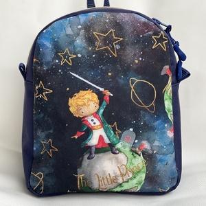 """""""A kis herceg"""" vízálló  gyerek hátizsák, Táska & Tok, Hátizsák, Kishátizsák, Varrás, Vízálló anyagból  készült gyerek hátizsák, az elején  kis herceg mintával. A táska háta és az eleje ..., Meska"""
