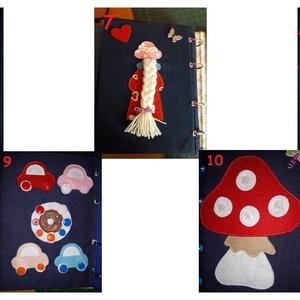 Csendes könyv /baba fejlesztő könyv, Gyerek & játék, Játék, Készségfejlesztő játék, Baba játék, Patchwork, foltvarrás,  8 oldalas, névre szóló textil könyv, mely sokoldalúan fejleszti a kisgyermekeket. Gyakoroltatja a s..., Meska