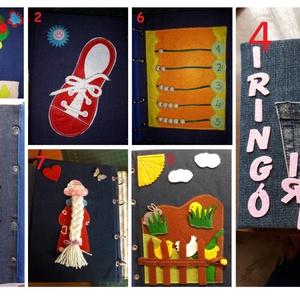 Csendes könyv /baba fejlesztő könyv, Játék & Gyerek, Textilkönyv & Babakönyv, Patchwork, foltvarrás, Meska