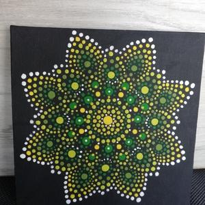 A tavasz hírnöke, Művészet, Festmény, Akril, Festészet, Festett tárgyak, 15x15 cm vászonkép, mely akril festékkel, potozó technikával készült.\nFriss, üde színeivel a tavaszt..., Meska
