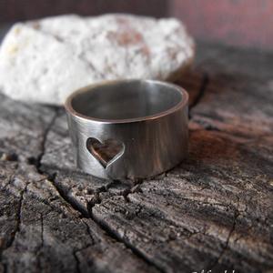 Alpakka szív gyűrű (Mandaladrotekszer) - Meska.hu