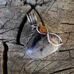 Sodalit ezüst medál - 925-ös ezüst (Mandaladrotekszer) - Meska.hu