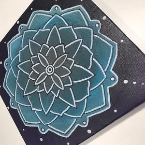 15x15cm Mandala festmény, Művészet, Festmény, Festmény vegyes technika, Festészet, Fotó, grafika, rajz, illusztráció, Akrill és lakk felhasználásával készült mandala mely szép dísze lehet otthonodnak, de ajándéknak is ..., Meska
