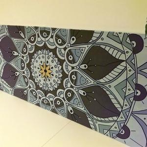 140x50cm dupla Mandala festmény, Művészet, Festmény, Akril, Festészet, Fotó, grafika, rajz, illusztráció, Akrill és lakk felhasználásával készült mandala mely szép dísze lehet otthonodnak, de ajándéknak is ..., Meska