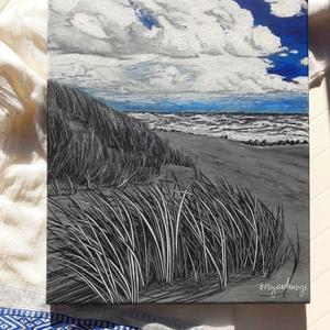Mindig kék - felhők felett az ég, Művészet, Festmény, Akril, Festészet, Akril festmény 30x40 cm-es vásznon. \nA Jancsó Art Gallery által meghirdetett pályázaton kiállításra ..., Meska