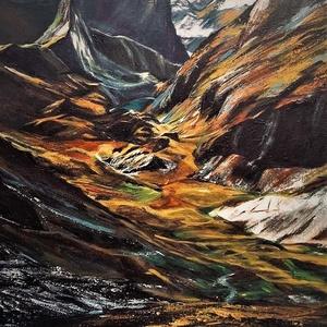 Ottfelejtett táj, Művészet, Festmény, Akril, Festészet, 40x60 cm-es akril tájkép., Meska