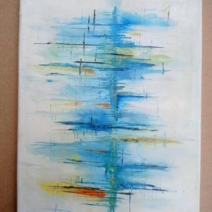 Nem látok át, Művészet, Festmény, Akril, Festészet, 30*40cm absztrakt akril vászon kép. \n, Meska