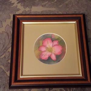 Rózsaszín virág (selyemkép) (Manelle) - Meska.hu