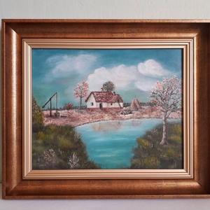 Tavasz a tanyán, Művészet, Olajfestmény, Festmény, Festészet, Meska