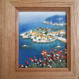 Dalmát tengerpart, Művészet, Festmény, Olajfestmény, Festészet, Meska