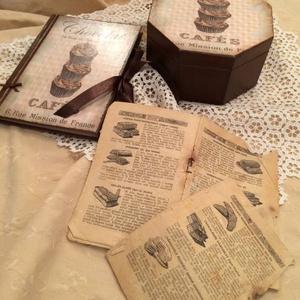 Csokis doboz, receptes füzet szettben., Konyhafelszerelés, Otthon & lakás, Receptfüzet, Lakberendezés, Tárolóeszköz, Decoupage, transzfer és szalvétatechnika, Különleges nyolcszögletű csokis dobozt és receptes füzetet készítettem rendelésre.\nKérhető más színb..., Meska