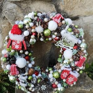 Karácsonyi kopogtató., Otthon & Lakás, Lakberendezés, Virágkötés, Karácsonyi kopogtató.\nMéret:30*30\n, Meska