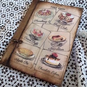 Tálca, receptes füzet szettben. (Mani73) - Meska.hu