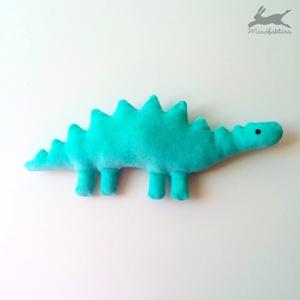 Plüss játék dínó (türkiz) dino, dinoszaurusz, Játék & Gyerek, Más figura, Plüssállat & Játékfigura, Varrás, Meska