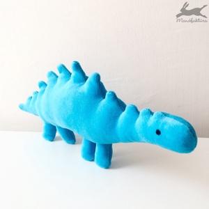 Plüss játék dínó (kék) dino, dinoszaurusz, Más figura, Plüssállat & Játékfigura, Játék & Gyerek, Varrás, Kék, puha babaplüss játék dinoszaurusz.\nMinden gyereknek (legyen az kisfiú vagy kislány) van dinós k..., Meska