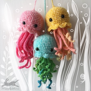 Weihai - sárga horgolt medúza - játék & gyerek - plüssállat & játékfigura - más figura - Meska.hu