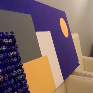 Geometria- akril festmény , Akril, Festmény, Művészet, Festészet,  \n50x70 cm feszített vászonra akrilfestékkel készített kép.\n\n, Meska