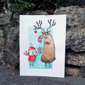 Karácsony rénszarvasnál (Mantina) - Meska.hu