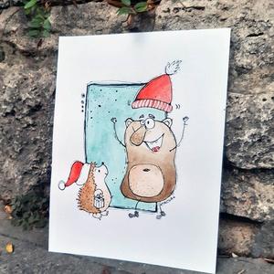 Karácsony sünivel (Mantina) - Meska.hu