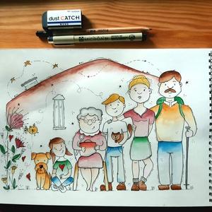 Egyedi portré a Te kívánságod szerint!, Művészet, Portré & Karikatúra, Fotó, grafika, rajz, illusztráció, Hiányzik a család? Meglepnél valakit valami különlegessel?\n\nIdén különleges meglepetés vár a családt..., Meska