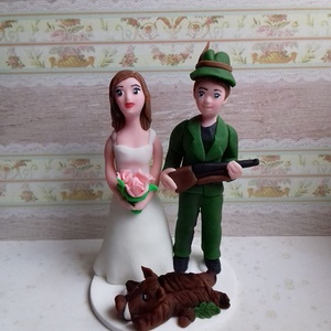 Vadász nászpár vaddisznóval, Helyszíni dekor, Dekoráció, Esküvő, Mindenmás, Ha úgy érzed, hogy feldobnád az Esküvőd valami nem hétköznapival, akkor a legjobb helyen jársz! :)\nE..., Meska