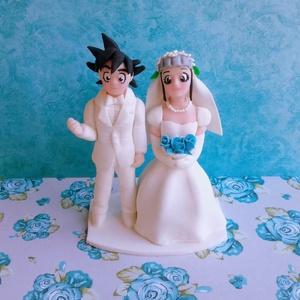 Dragon Ball nászpár, Helyszíni dekor, Dekoráció, Esküvő, Mindenmás, Ha úgy érzed, hogy feldobnád az Esküvőd valami nem hétköznapival, akkor a legjobb helyen jársz! :)\nE..., Meska