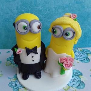 Minion nászpár, Helyszíni dekor, Dekoráció, Esküvő, Mindenmás, Ha úgy érzed, hogy feldobnád az Esküvőd valami nem hétköznapival, akkor a legjobb helyen jársz! :)\nE..., Meska