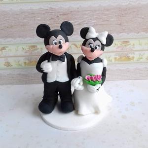 Mickey Minnie Nászpàr , Asztaldísz, Dekoráció, Esküvő, Mindenmás, Ha úgy érzed, hogy feldobnád az Esküvőd valami nem hétköznapival, akkor a legjobb helyen jársz! :)\nE..., Meska