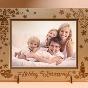 Karácsonyi képkeret, rendelhető tetszőleges felirattal, idézettel rendelhető, különleges alkalmakra, Otthon & lakás, Dekoráció, Kép, Lakberendezés, Képkeret, tükör, Gravírozás, pirográfia, \n\nAmennyiben különleges, névreszóló ajándékot szeretnél,\negy ehhez hasonló képkeretet készítünk neke..., Meska